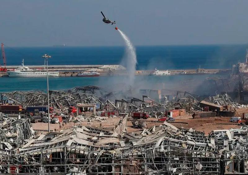 helicóptero del Ejército libanés