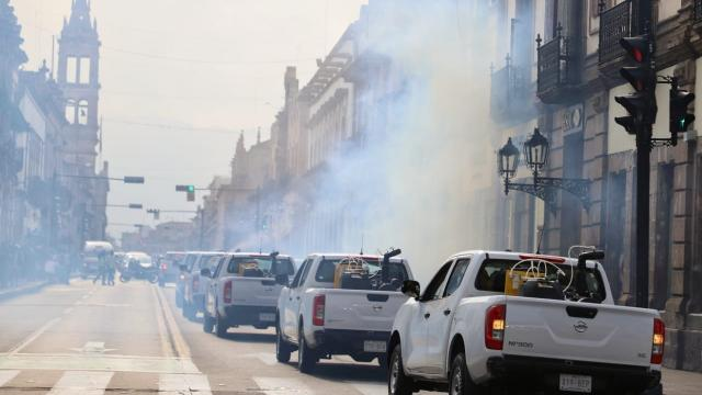 Unidades de fumigación contra el dengue