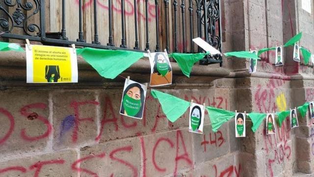 Marcha por la despenalización del aborto en Morelia