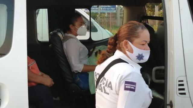 Operativo de vialidad con transporte público
