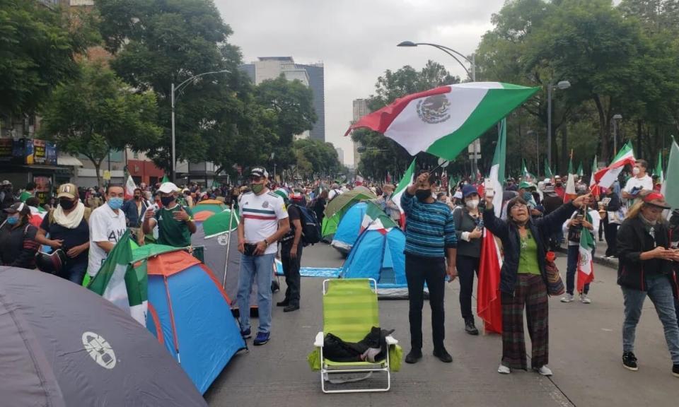 Manifestantes en la CDMX