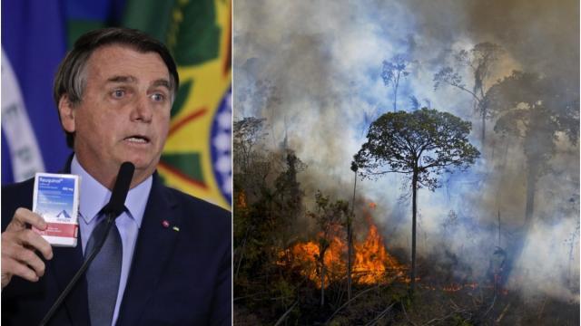 Incendio en la Amazónica