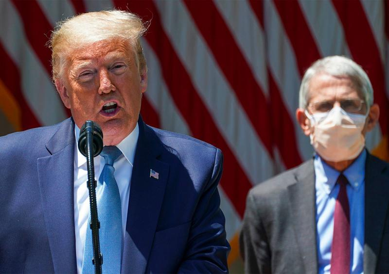 Donald Trump y Anthony Fauci