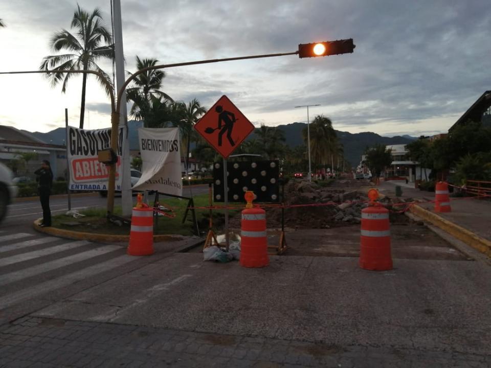 Reparación de avenida de ingreso