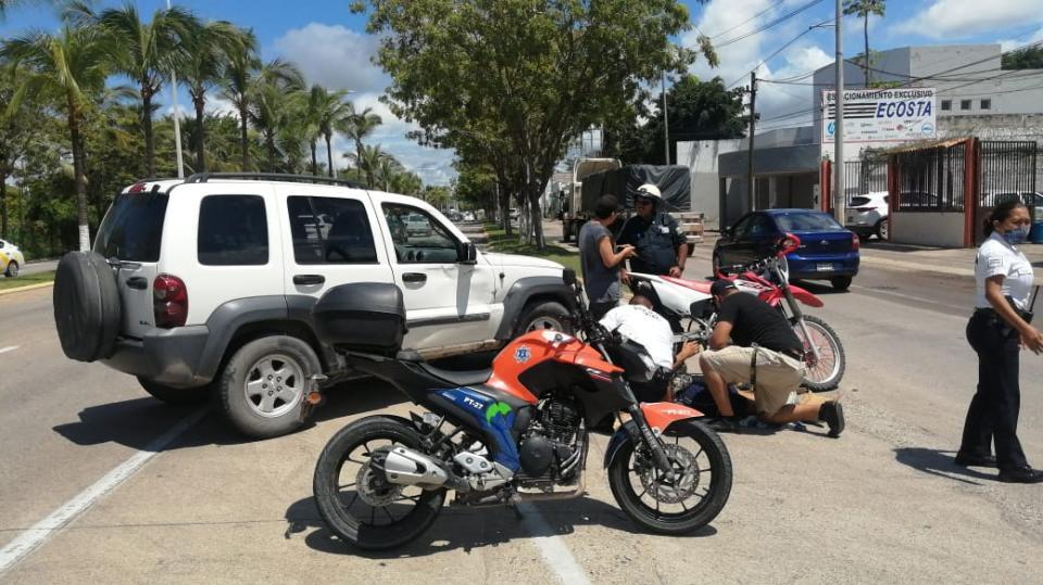 Choca a motociclista