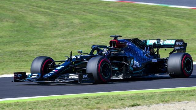 Lewis Hamilton en carrera