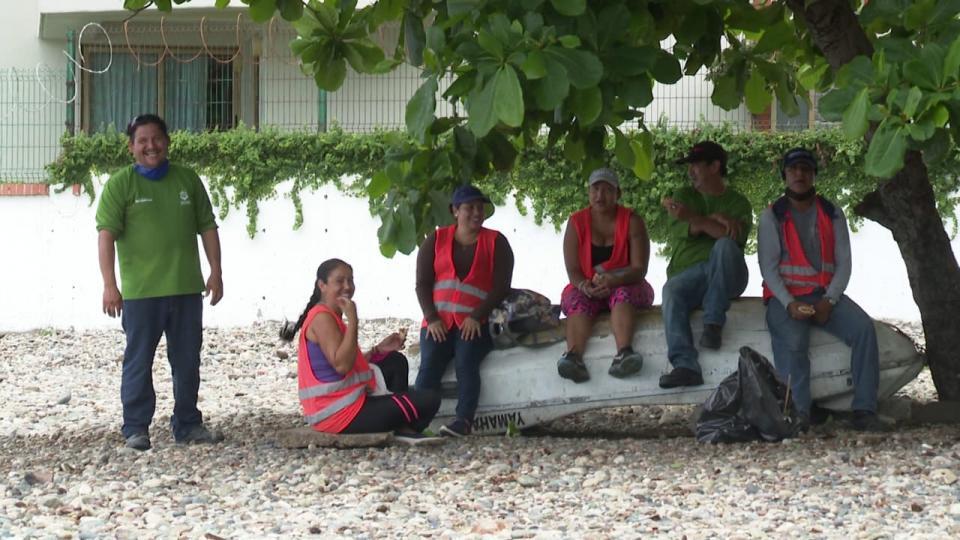 Trabajadores de Aseo Público en Puerto Vallarta