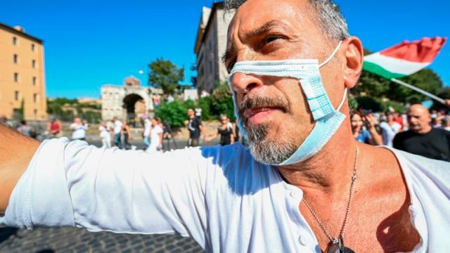 Manifestación Roma