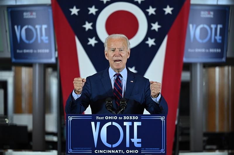 Candidato Demócrata a la presidencia de los Estados Unidos Joe Biden