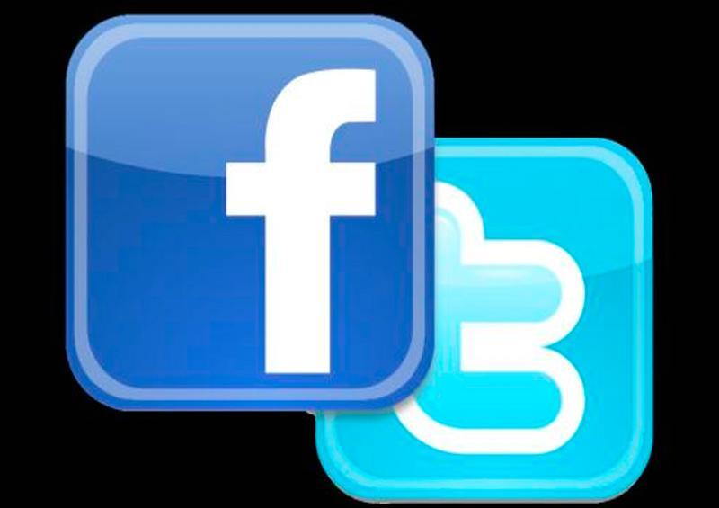 Twitter y Facebook