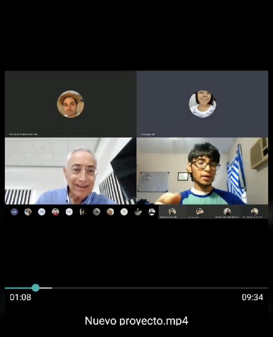 Profesor en videollamada