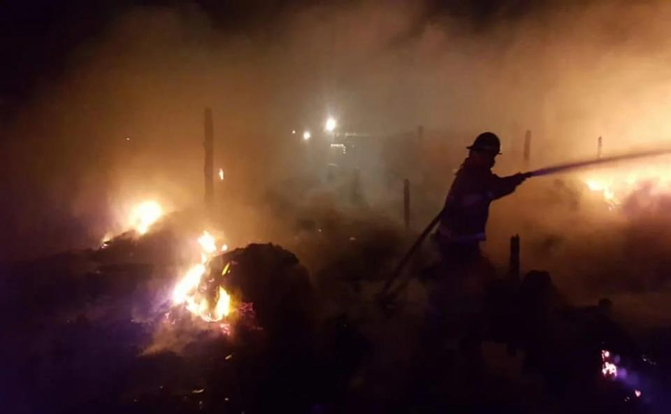 Incendio en Mulegé