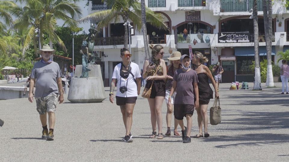 Turistas en el Malecón