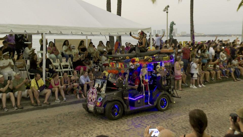 Festejos de Halloween en Malecón de Puerto Vallarta