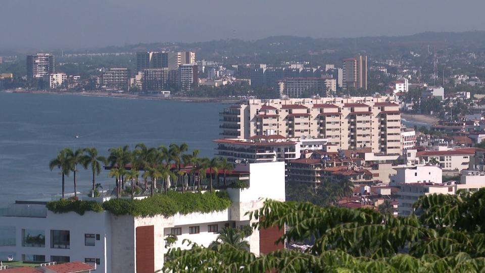 Vista a la bahía en Puerto Vallarta