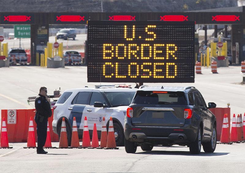 Cierre de frontera de EEUU y Canadá