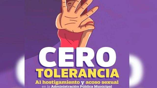 Dentro de Ayuntamiento campaña contra Hostigamiento y Acoso Sexual