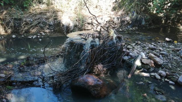 Arroyo de la Virgen contaminado por aguas negras
