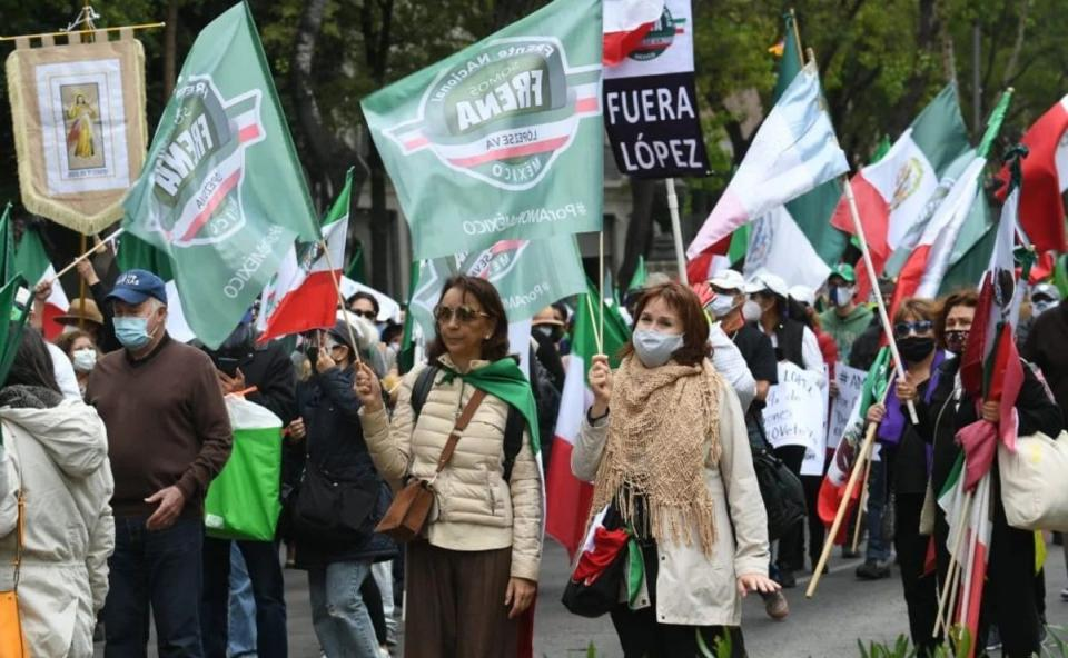 Marcha Frente Nacional Anti AMLO