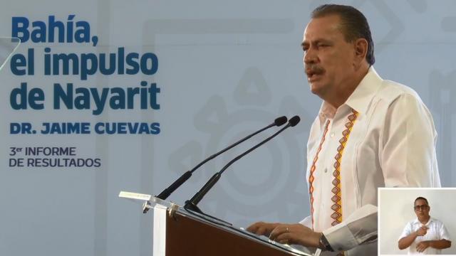 Jaime Cuevas en su tercer informe de gobierno