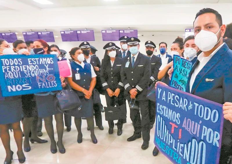 Trabajadores de Interjet emplazan a huelga para el 7 de diciembre