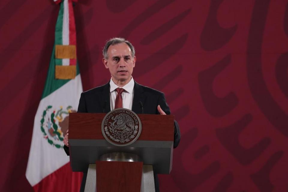 Hugo López-Gatell en rueda de prensa