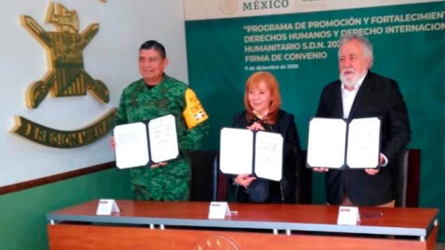 Sedena y CNDH firman acuerdo para promover derechos humanos