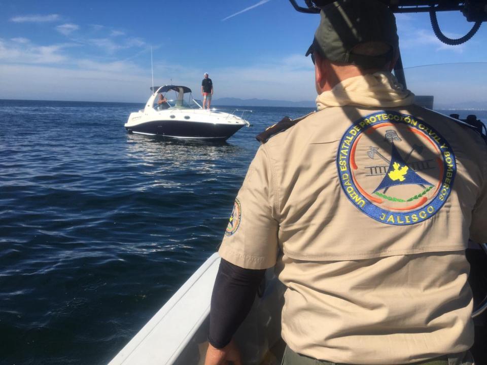 Protección Civil en una embarcación