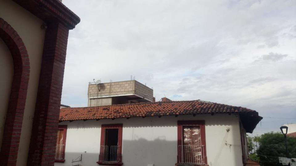 Obra en el centro de Vallarta