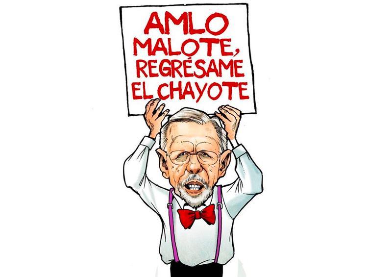 Genera polémica caricatura de López-Dóriga presentada por AMLO