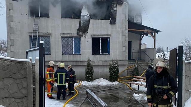 Incendio en residencia de ancianos en Ucrania