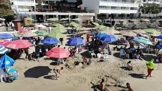 Afluencia de turismo en primer fin de semana en Puerto Vallarta