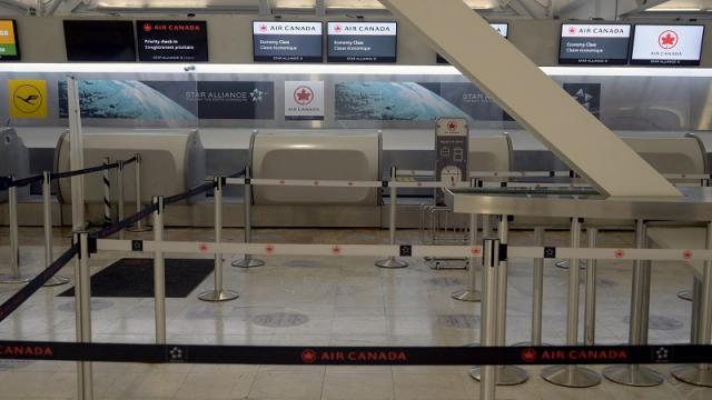 Air Canada, vuelos cancelados por la pandemia