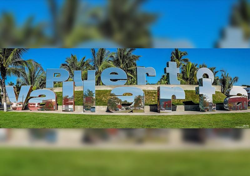 Maxiletras de bienvenida de Puerto Vallarta