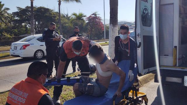 Lesionado en accidente