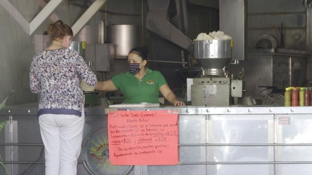 Aumento de precios en las tortillas