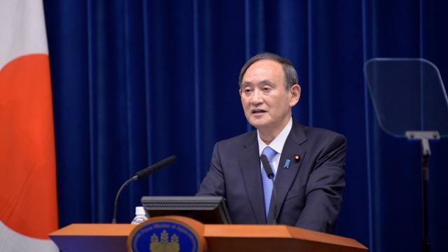 Primer ministro japonés, Yoshihide Suga.