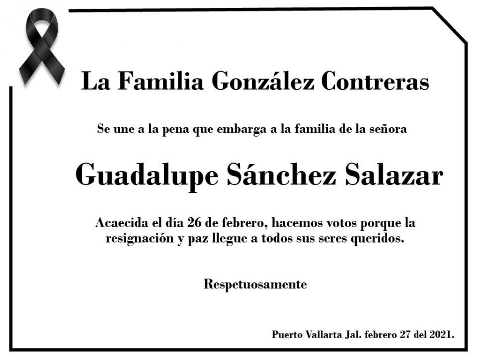 Esquela Guadalupe Sánchez