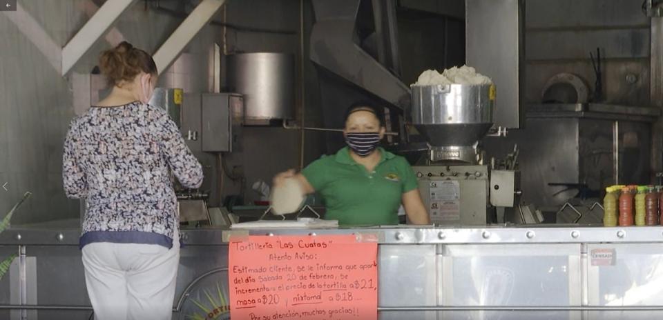 Aumenta el precio de las tortillas