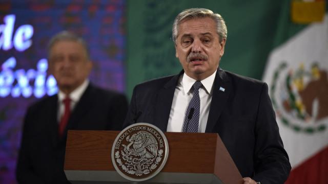 Presidente de Argentina, Alberto Fernández,