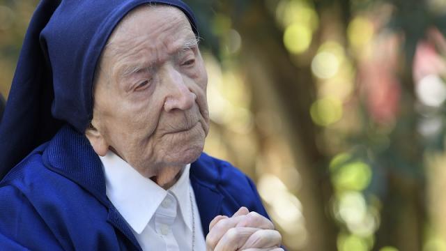 La hermana André, una de las mujeres más longevas de Europa