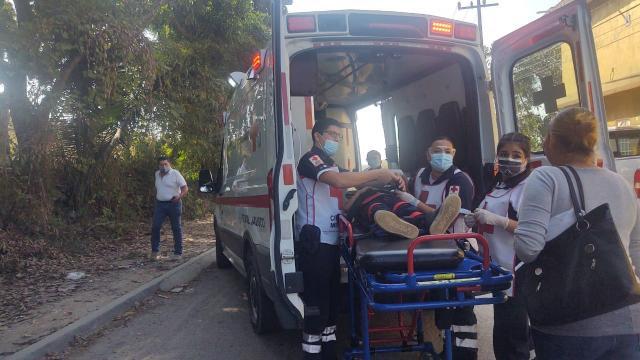 Menor resulta herido en accidente