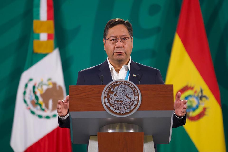 Presidente de Bolivia en el Palacio Nacional