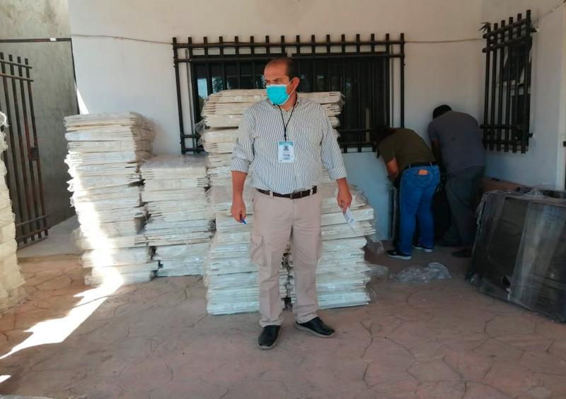 Llegó material electoral al Consejo Municipal electoral de Bahía de bandera