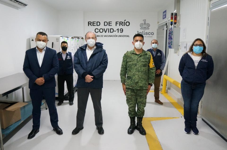 Llegada de vacunas a Jalisco