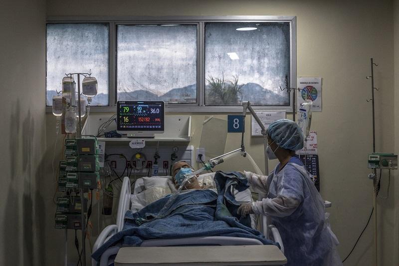 Hospitalizaciones por covid-19 en Brasil