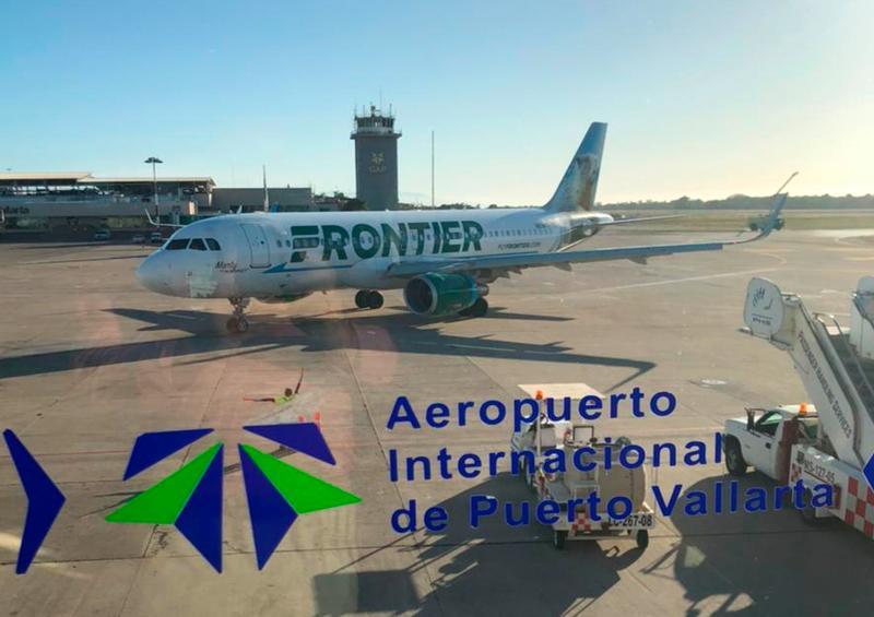 Llega vuelo de Las Vegas a Puerto Vallarta con Frontier