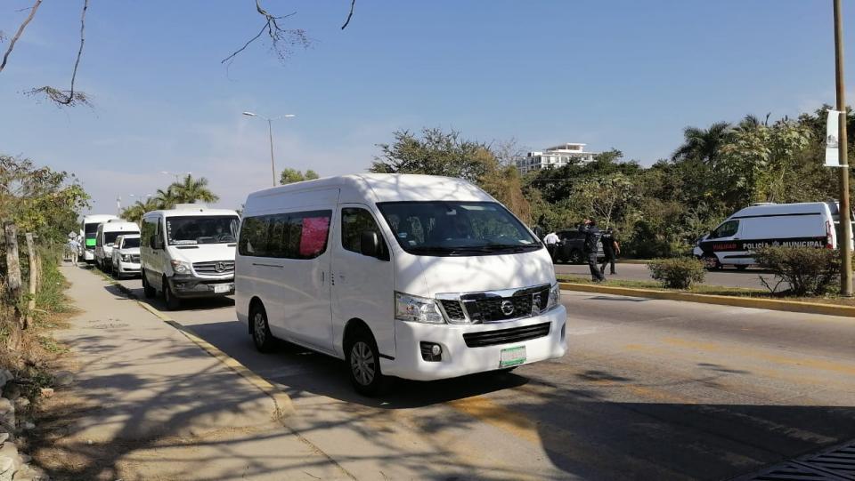 Manifestación de transportistas turísticos