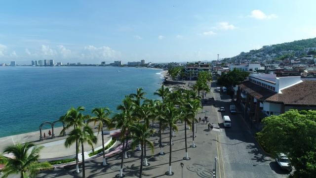 Vista aérea del Malecón de Puerto Vallarta