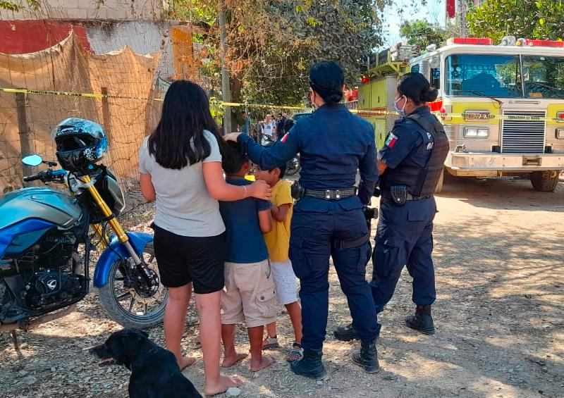 Vecinos rescatan a niños de morir quemados en Vista Dorada
